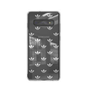 ADIDAS CAPA OR SNAP CASE CLEAR CASE GALAXY S10+ SILVER